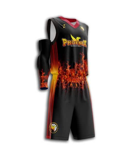 Sublimated Basketball Uniform Men Full Dye Custom Basketball Uniform