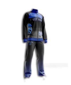 Custom sublimated basketball pregame suits